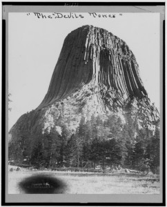 aDevil's Tower National Monument, WY, 1911 [photo: National Archives & Records Administration]
